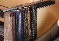 Closet Tie Rack Sliding