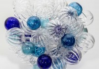 colored glass ball chandelier