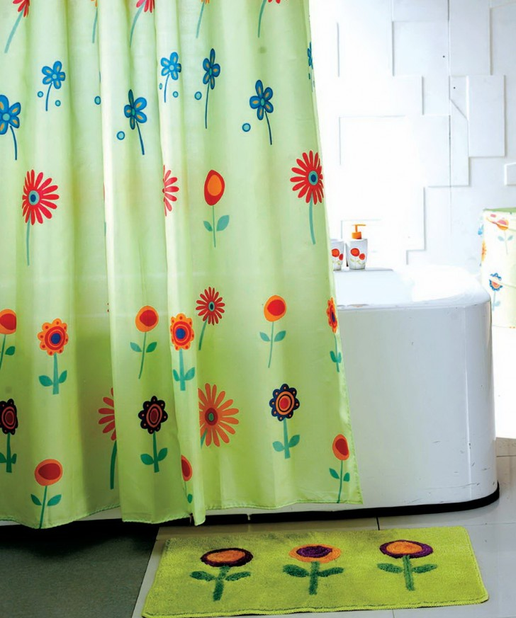 Permalink to Colorful Fabric Shower Curtains