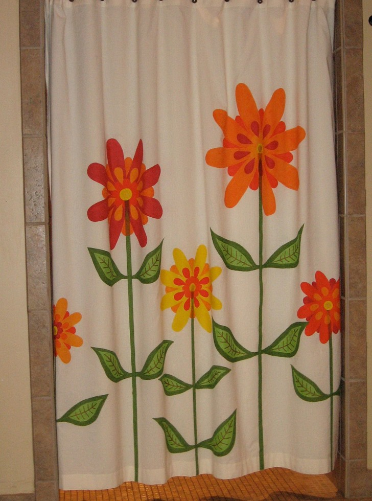Permalink to Colorful Flower Shower Curtains