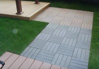 Composite Deck Tiles On Grass