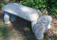 Concrete Garden Bench Home Depot