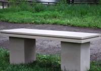 Concrete Garden Bench Seat