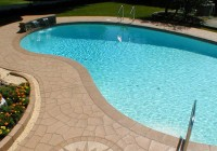 concrete pool deck paint ideas