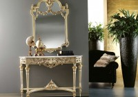 Contemporary Console Table And Mirror Set