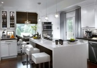 Contemporary Kitchen Window Curtains
