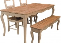 Country Kitchen Table With Bench