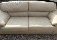 Cream Leather Sofa Cushions