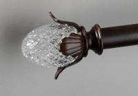 crystal curtain rod finials