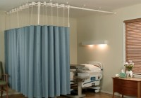 Cubicle Curtain Track From Kirsch With A Metal Beaded Hanger
