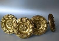 Curtain Holdbacks Antique Brass