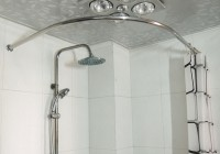 Curved Curtain Rod For Shower Stall