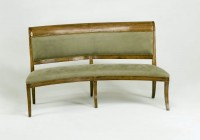 Curved Dining Bench Upholstered