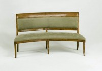Curved Upholstered Dining Bench