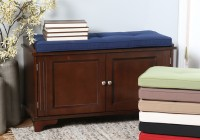 Cushion Top Storage Bench