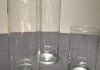 Cylinder Glass Vases Set Of 3