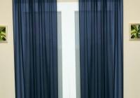 dark blue sheer curtains