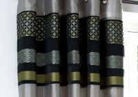 Dark Grey Eyelet Curtains
