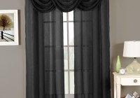 Dark Grey Sheer Curtains