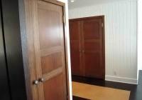 Dark Wood Bifold Closet Doors