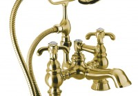 deck mount clawfoot tub faucet