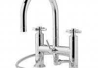 Deck Mount Tub Faucet With Shower Diverter