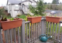 Deck Rail Planter Box