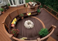 Deck With Fire Pit Built In