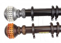 decorative double traverse curtain rods