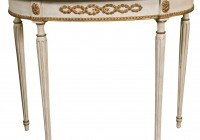 Demilune Console Table Marble Top