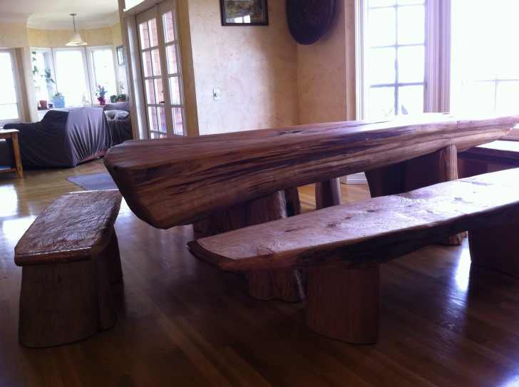 Permalink to Dining Table With Bench Against Wall