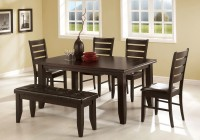 Dining Table With Benches Modern
