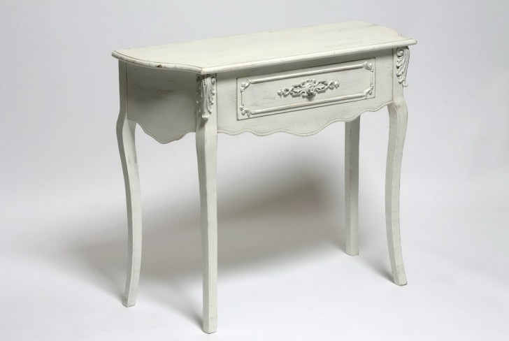 Permalink to Distressed Console Table With Drawers