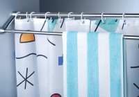 double bar shower curtain rod