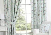 Duck Egg Blue Floral Curtains