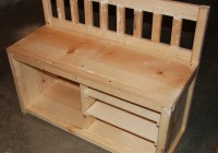 Entryway Bench With Shoe Storage Plans