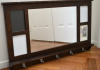 Entryway Mirror With Hooks Brown