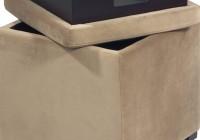 Fabric Storage Ottoman Cube