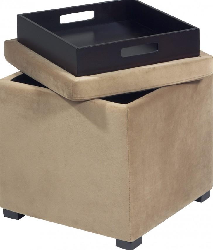 Permalink to Fabric Storage Ottoman Cube