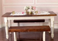 Farmhouse Dining Set With Bench