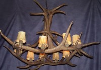 faux elk antler chandelier