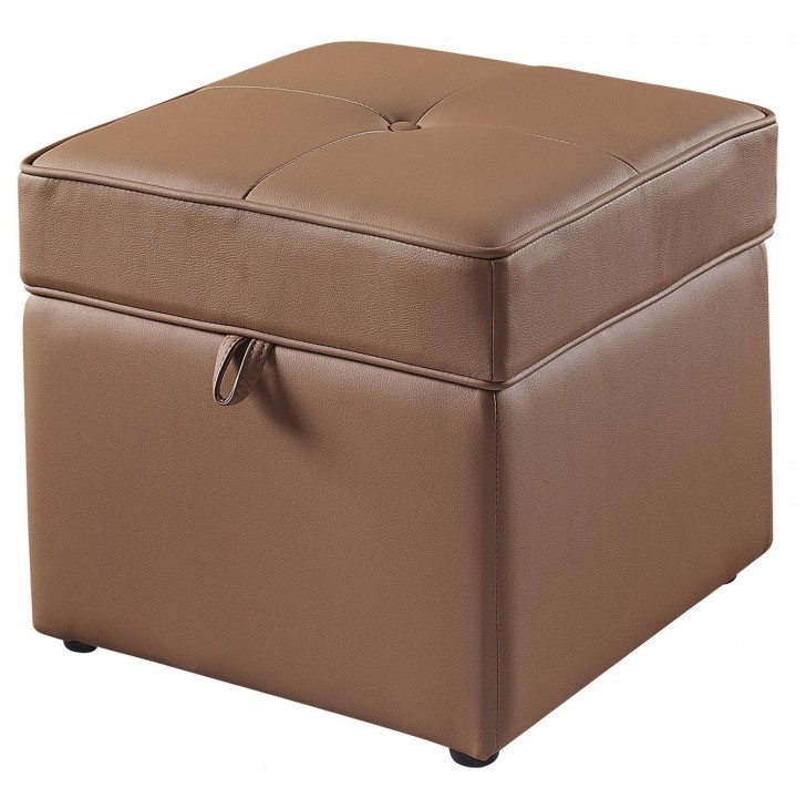 Permalink to Faux Leather Storage Ottoman