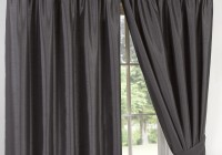 Faux Suede Curtains Grey