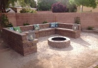 Fire Pit Benches Curved
