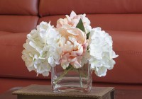 Flower Arrangements In Square Glass Vases
