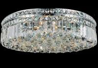 Flush Mount Chandelier Crystal