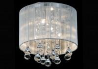 flush mount drum crystal chandelier