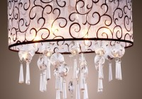flush mount drum crystal chandelier