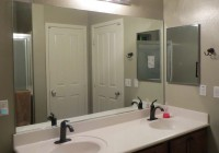 Frame Bathroom Mirror Before After