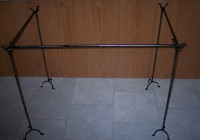 free standing curtain rod set